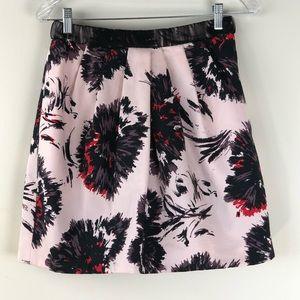 Anthropologie Peter Som Floral Skater Skirt Size 4